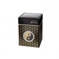 Pudełko na herbatę Yin Yang Czarny 11 cm - Lotus