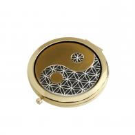 Lusterko Yin Yang Czarny 7,5 cm - Lotus Goebel 23500361