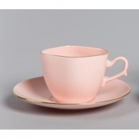 Filiżanka Anna Maria do espresso - różowa porcelana AS Ćmielów