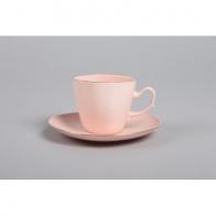 Filiżanka Anna Maria do kawy/berbaty - różowa porcelana AS Ćmielów