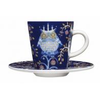 Filiżanka do espresso ze spodkiem Iittala Taika, niebieska