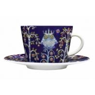 Filiżanka do cappuccino ze spodkiem Iittala Taika, niebieska