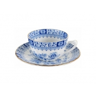 Filiżanka do espresso ze spodkeim 2 el.- Dorothea China Blue
