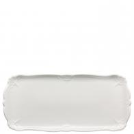 Patera prostokątna 30 x 15 cm - Baronesse White