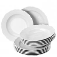 Zestaw obiadowy 12 sztuk - Maria Theresia White