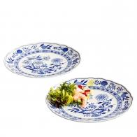Talerze - zestaw 2 sztuk 25 cm - Blue Onion Hutschenreuther 02001-720002-10225-1