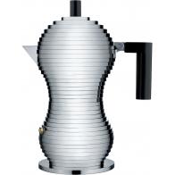 Zaparzacz do espresso Pulcina czarny uchwyt 150 ml - Michele De Lucchi