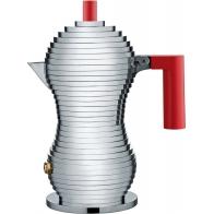 Zaparzacz do espresso Pulcina czerwony uchwyt 70 ml - Michele De Lucchi Alessi