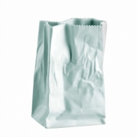 Wazon 18 cm Biały Paper Bag Matowy