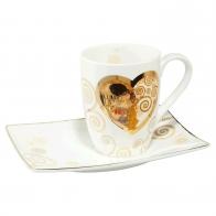 Kubek z podstawką 12 cm Heart Kiss - Gustav Klimt Goebel 67-011-38-1