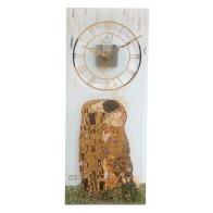 Zegar ścienny 20 x 48 cm Pocałunek - Gustav Klimt Goebel 67-000-53-1l