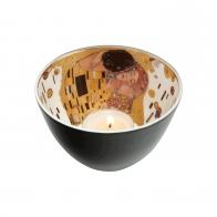 Świecznik - tealight 7,5 cm Pocałunek - Gustav Klimt Goebel 66522201
