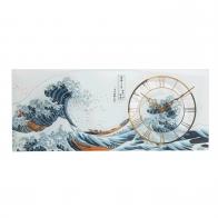 Zegar ścienny 48 x 20 cm Wielka Fala, Great Wave - Katsushika Hokusai Goebel 67-000-30-1