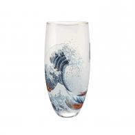Wazon szklany 30 cm Wielka Fala, Great Wave - Katsushika Hokusai