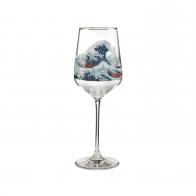 Kieliszek do wina 25 cm Wielka Fala, Great Wave - Katsushika Hokusai Goebel 66926661