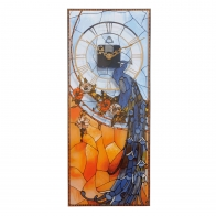 Zegar ścienny 20 x 48 cm Paw - Louis Comfort Tiffany