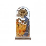 Zegar kryształowy 25 cm Paw - Louis Comfort Tiffany Goebel 67000401