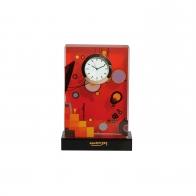 Zegar kryształowy Heavy Red 15 cm - Wassily Kandinsky Goebel 67100071