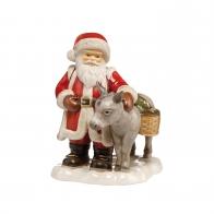 Św. Mikołaj z osiołkiem 24 cm