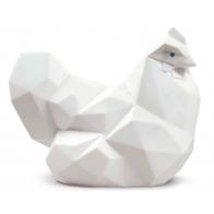 Figurka Kura biała 10 cm Lladró 01009272