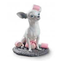 Figurka pies Chihuahua ze słodkimi piankami 24 cm Lladró 01009191
