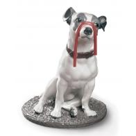 Figurka pies Jack Russell z lukrecją 34 cm Lladró 01009192