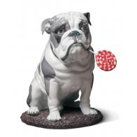 Figurka pies Buldog z lizakiem 33 cm Lladró 01009234