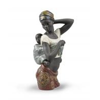 Figurka Afrykańska matka z dzieckiem 38 cm - Lladro