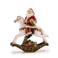 Ozdoba świąteczna Św. Mikołaj na koniu 25 x 30 cm - Spirito Incantato - Noel