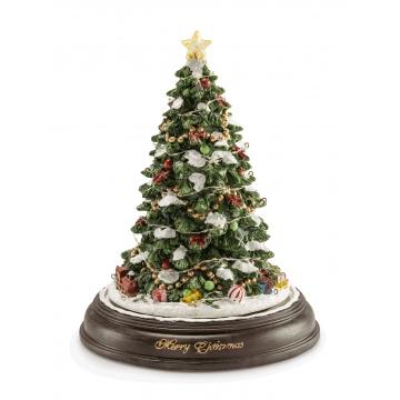 Ozdoba świąteczna Choinka 31 cm muzyka, światło, ruch - Les Carillon - Noel