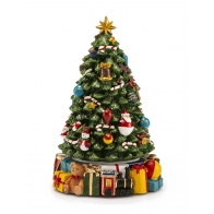 Ozdoba świąteczna Choinka 29 cm muzyka, ruch - Boule de Neige - Noel