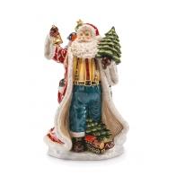 Ozdoba świąteczna Św. Mikołaj z choinką i dzwonkiem 37 cm - Un Sacco Pieno di Doni - Palais Royal