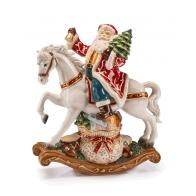 Ozdoba świąteczna pozytywka Św. Mikołaj na koniu 28 x 33 cm - Un Sacco Pieno di Doni - Palais Royal