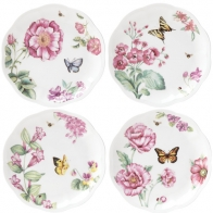 Zestaw 4 talerzy Bloom 20 cm - Butterfly Meadow