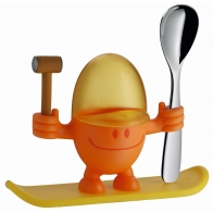 Kieliszek do jajek McEgg pomarańczowy z łyżeczką - WMF