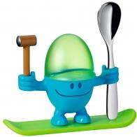 Kieliszek do jajek McEgg niebieski z łyżeczką - WMF