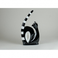 Figurka Kotka akrobatka czarna gładka - Adam Spała