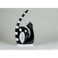 Figurka Kotka akrobatka czarna drapana - Adam Spała