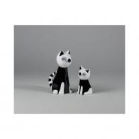 Figurka Kot MruMru czarny mały - Adam Spała