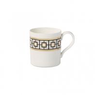 Kubek do kawy 11 x 8 x 9 cm biało-czarno-złoty - MetroChic Villeroy & Boch 10-4652-4856