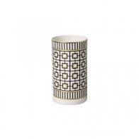 Lampion dekoracyjny 7,5 x 7,5 x 13 cm biało-czarno-złoty - MetroChic Gifts Villeroy & Boch 10-4483-5520