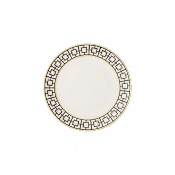 Talerz do pieczywa 16 cm biało-czarno-złoty - MetroChic Villeroy & Boch 10-4652-2660