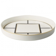 Taca do serwowania 33 cm biało-czarno-złota - MetroChic Villeroy & Boch 10-4483-6072