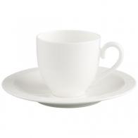 Filiżanka espresso ze spodkiem 100 ml - White Pearl