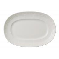 Talerz owalny 22 cm - White Pearl