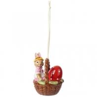 Ozdoba Anna w koszyku 6 cm - Bunny Tales Villeroy & Boch 14-8662-6874