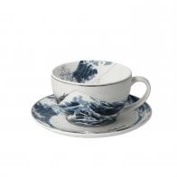 Filiżanka do herbaty 7 cm Great Wave II - Katsushika Hokusai Goebel 67-012-52-1