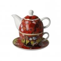 Tea For One Zakochaj się wśród maków 15 cm - Koty Rosina Wachtmeister Goebel 66860561