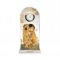 Zegar kryształowy 23 cm Pocałunek - Gustaw Klimt 66523241 Goebel