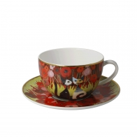 Filiżanka do herbaty 8,5 cm Zakochaj się wśród maków - Koty Rosina Wachtmeister Goebel 66860521